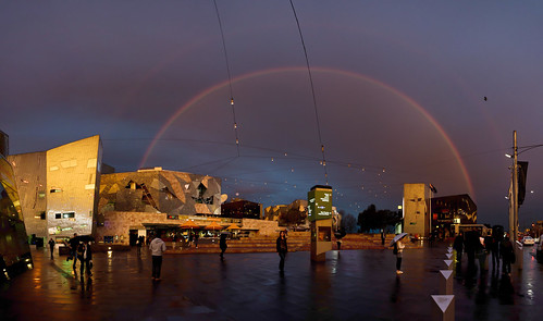 Over the rainbow - Federation Square