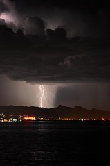 Havasu City Lightning Strike (Jeff Maack) Tags: lightningstrike summerstorm havasucity wherethelondonbridgeis