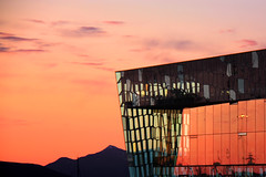 Harpa  ( Reykjavk concert hall ) (Z Eduardo...) Tags: city sunset urban window glass architecture reflections island iceland europe concerthall harpa platinumheartaward platinumpeaceaward doublyniceshot doubleniceshot tripleniceshot mygearandme mygearandmepremium mygearandmebronze reykyakiv 4timesasnice