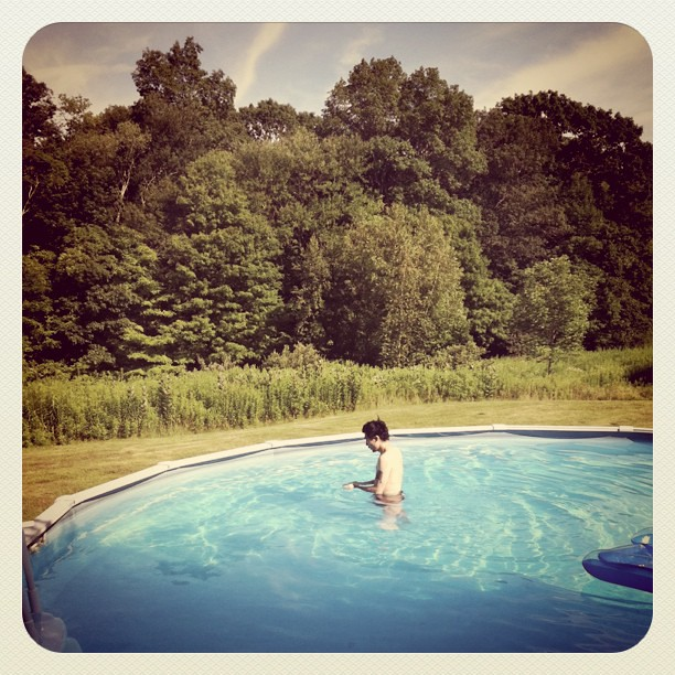 Night 6 hosts in Eastford, CT let us dip into their pool!