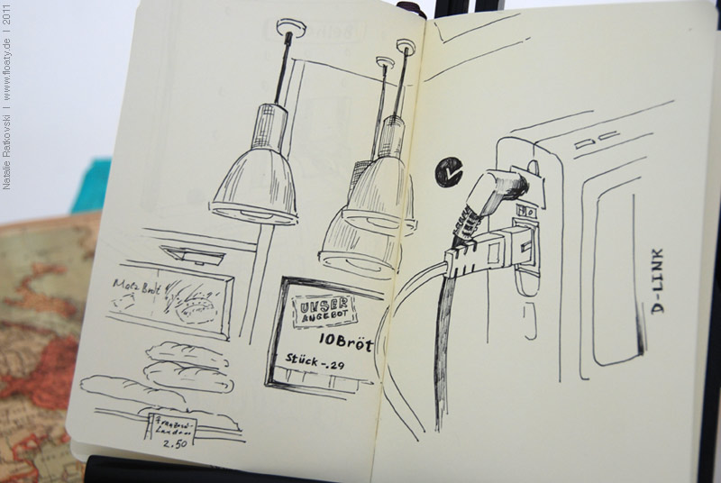 Sketch flash mobe: technique