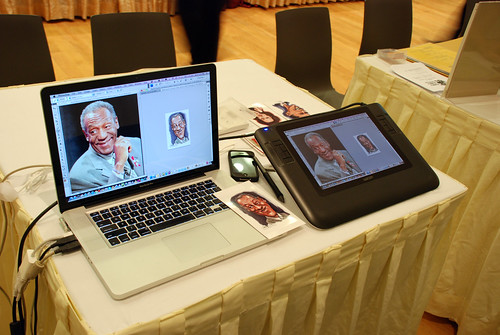 digitcal caricature live sketching for Utell Hotels and Resorts - a