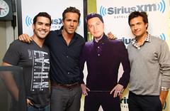 Ryan Reynolds and Jason Bateman on the Covino & Rich Show (covinoandrich) Tags: show jason celebrity radio movie ryan satellite rich sirius xm reynolds bateman covino