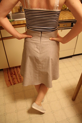 Brown Chambray Ginger Skirt