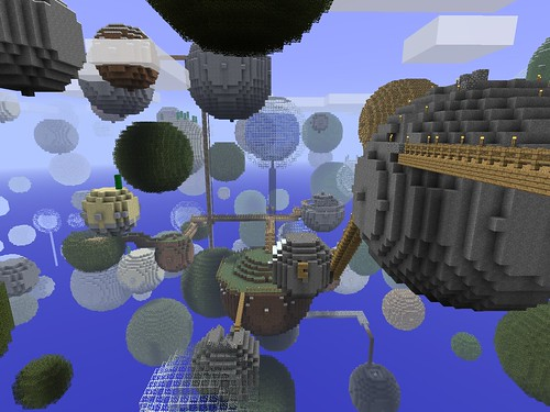 Minecraft - Planetoids by colmmcsky, on Flickr