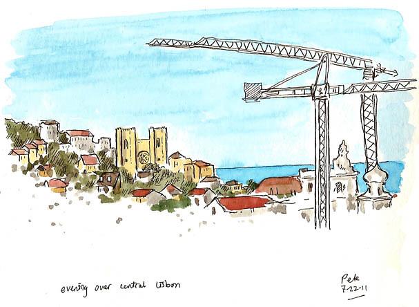skyline of lisbon