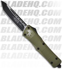 "Microtech Green Combat Troodon Tanto OTF Knife (3.8"" Black Plain) 144-1GR - BladeHQ (Blade HQ) Tags: green knife automatic blade knives hq combat blades tanto microtech troodon bladehqcom microtechcom bladeq"