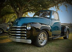 1948 Chevy Pickup (StGrundy) Tags: auto usa classic cars 1948 chevrolet car rural truck ga vintage georgia nikon automobile shiny colorful unitedstates antique south pickup automotive voiture southern chevy chrome restored vehicle headlight grille custom  carshow coches fenders polished labordayweekend automvil appalachianmountains pinemountain callawaygardens showcar  d80   stgrundy skyhighhotairballoonfestival