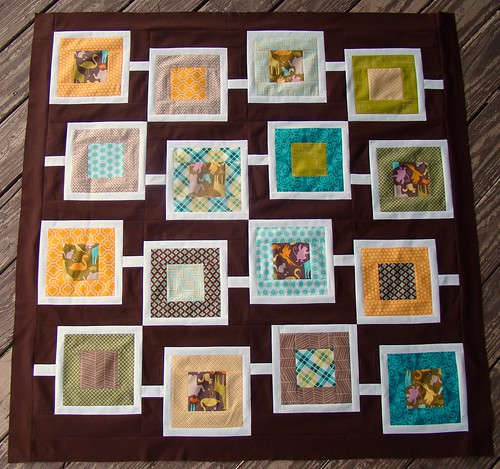 Sanctuary Squares baby quilt top