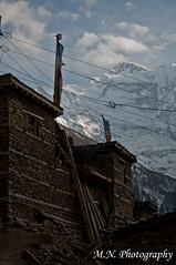 It's really my dream to open the window in the morning and strive a summit  air. (Meir Naamat) Tags: nepal snow window view peak peaks himalaya northface כפר upperpisang חלון עתיק פסגות annapurna2 דגליתפילה aroundannapurnatrack over7000