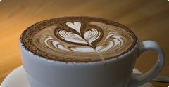 Mocha? (On the mountain at dawn) Tags: art tom mocha tulip latte barista summers