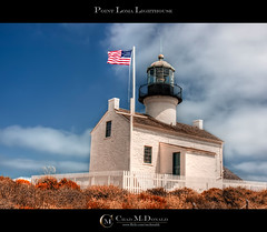 Point Loma Lighthouse (Chad McDonald) Tags: california ca summer lighthouse sandiego flag pointloma