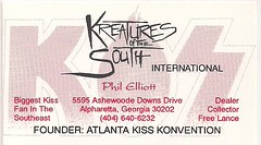 07-16-95 Kiss Convention @ Bloomington, MN (Kreatures of the Soth Business Card)