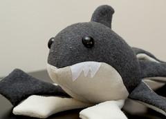 sharktoplush medium - cute face (Suzannah Ashley) Tags: monster shark stuffed gray plush octopus sharktopus sharktoplush