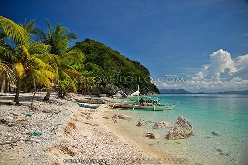 White Sand Beach of Cabugao Gamay Island in Carles