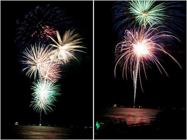 July 4th fireworks diptych 10