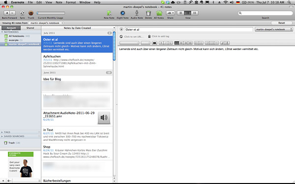 Evernote for MAC