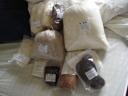Big fibre stash wool breeds sample study