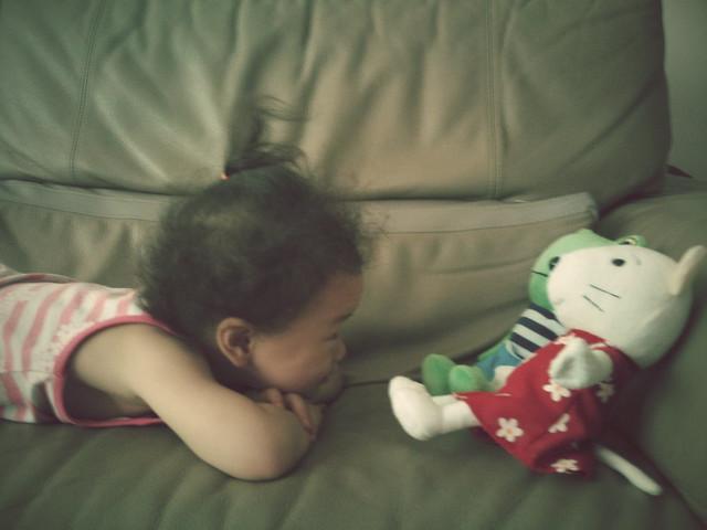 """1000708  一早起來就對著奈奈小希說""""寶貝!寶貝!"""""""