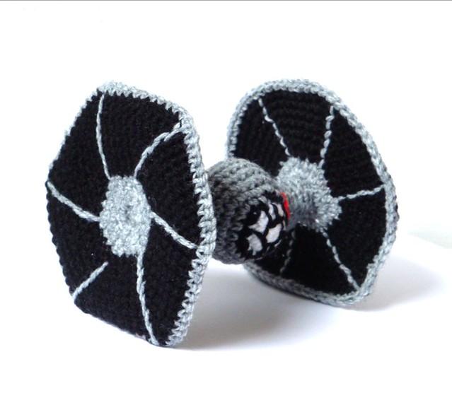 Crochet Tie Fighter