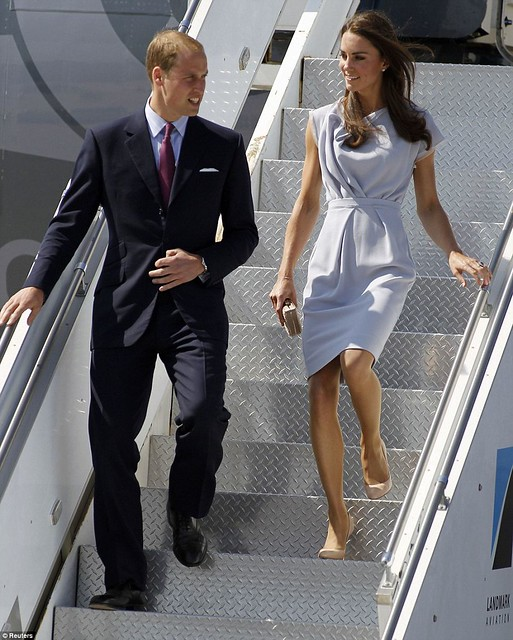 She's a California girl! Royal couple touch down in LA with a splash of red, white and blue as America prepares for Kate-mania  3