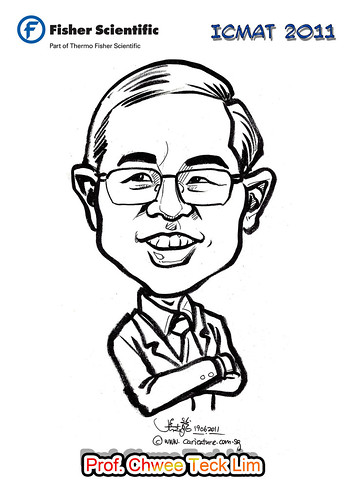 Caricature for Fisher Scientific - Prof. Chwee Teck Lim