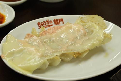 めんたいチーズ餃子@ぎょうざの龍門