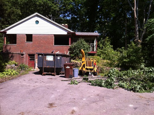 DeBord Residence Rehab Remove Windows and Trees