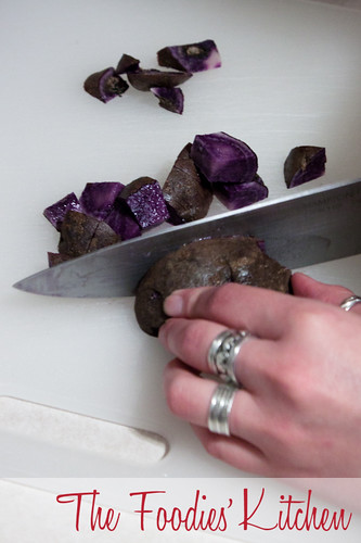 Oven Roasted Purple Potatoes