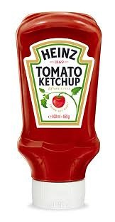 Upside-down ketchup bottle