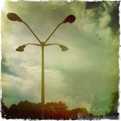 365-203 ( estatik ) Tags: lighting new light 6 project lights parking nj lot july days pole ups photoaday jersey 365 203 2011 parsippany project365