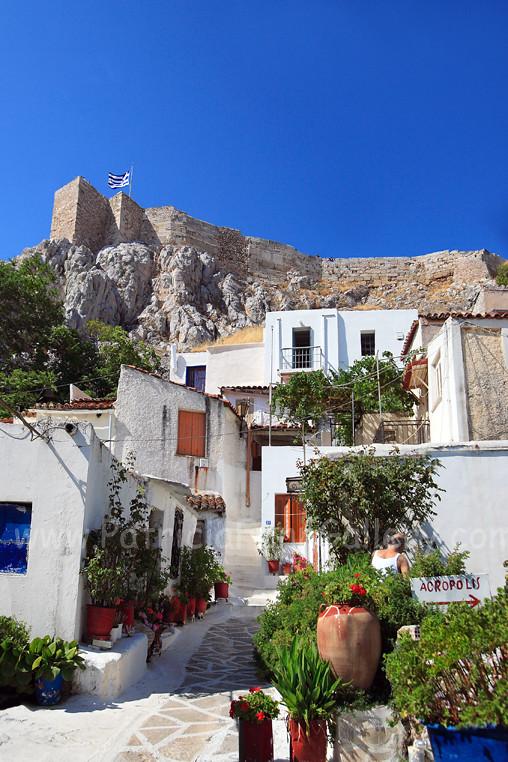 Plaka street Athens