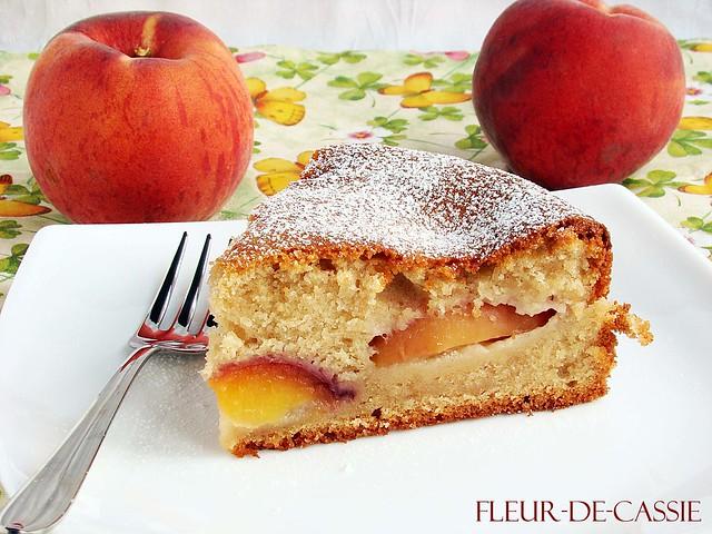 персиковый пирог с корицей 2