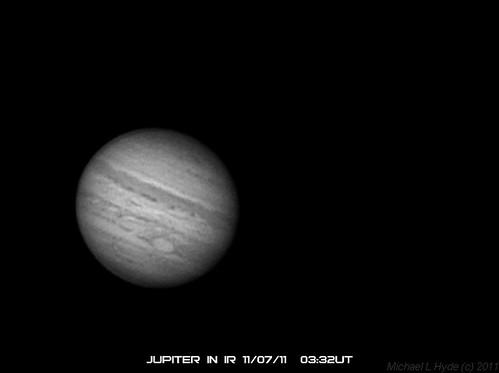 Jupiter in IR 2011-07-11 03-32-55UT by Mick Hyde