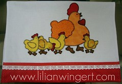PANO DE PRATO GALINHA (Lilian Wingert - Artesanato e Patchwork.) Tags:
