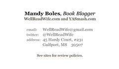 Mandy Boles business card, back
