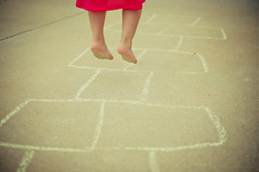 193/365 :: Tuesday, July 12 (mother.of.pearl) Tags: game feet chalk jump toes little drawing july barefoot hopscotch hop project365 lightroom3 project36612011 3652011