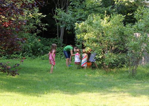 back yard pickin