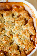 Cobbler straight from the oven (Brown Eyed Baker) Tags: food recipe dessert peaches peachcobbler cobbler