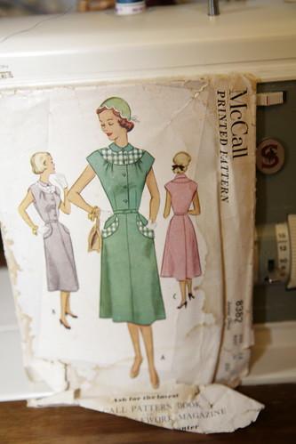 Vintage dress pattern.