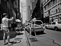 gran touristmo (zlandr) Tags: street city nyc newyorkcity urban blackandwhite bw newyork streets tourism manhattan candid olympus tourist tourists midtown sp touristy 41 unaware ep1 spnp streetphotographynow streetphotographynowproject chrisfarling zlandr instruction41