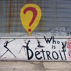 Who Is Detroit? (Robert Saucier) Tags: usa wall graffiti midwest michigan tag detroit mur tatsunis img2225 dtroit whoisdetroit