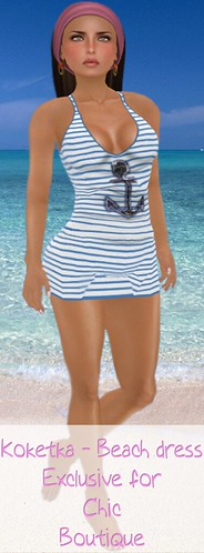 Koketka Beach dress for Chic Boutique