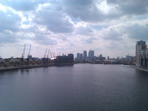 A view from the Royal Victoria Dock bridge