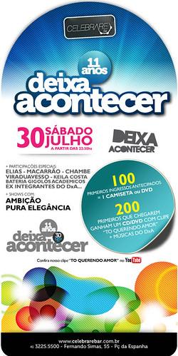 E-flyer - Deixa Acontecer 11 Anos by chambe.com.br