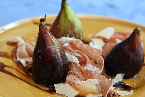 Black Mission Figs with San Daniele Prosciutto