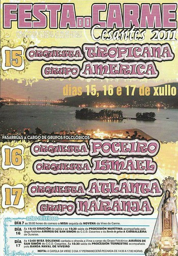Redondela 2011 - Festas do Carme en Cesantes - cartel