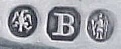 Theophilus Bradbury hallmarks on spoon