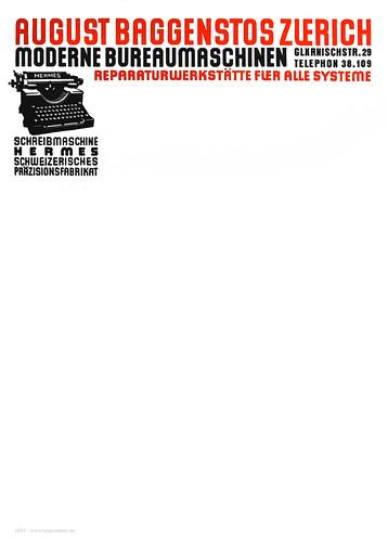 Briefpapier Baggenstos 1931