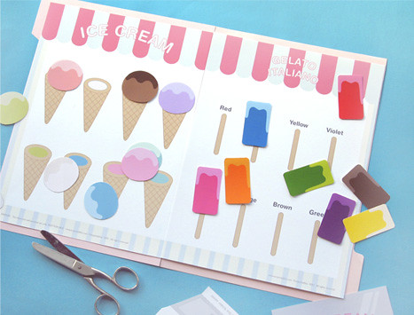 Free Printable File Folder Game - Ice Cream